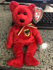 TY Beanie Baby - GRAF VON ROT the Bear (Germany Exclusive) (8.5 inch) - MWMTs