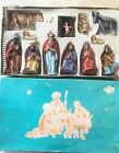VINTAGE FRIEDEL GERMANY Nativity FIGURINES 13 pc SET HAND PAINTED