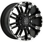4 Panther OffRoad 816 17x9 5x5 5x55 +12mm Black Machined Wheels Rims 17 Inch