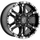 4 Panther OffRoad 810 18x9 6x135 6x55 +0mm Black Machined Wheels Rims 18 Inch