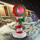 Holiday Christmas Inflatable Decoration 4 FT Lighted Sign LED Illumination Yard