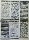 Sticko BLACK ALPHABET  BLACK NUMBER Stickers You Choose Style