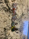 6 Handblown Art Glass Candy Kisses Cleat And Multiple Colors