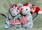 TY Beanie Babies: JINGLEMOUSE & JANGLEMOUSE * the HOLIDAY MICE * 2005 * MWMTS *