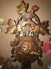 NICE GERMAN ANIMATED ROCKING BIRDS MUSICAL CUCKOO CLOCK WITH DANCERS