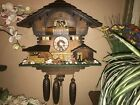 BEAUTIFUL GERMAN 8 DAY MUSICAL CUCKOO CLOCK WITH WATERWHEEL & DANCERS