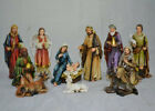 12 Piece Nativity Figurine Set Mary Joseph Jesus Holiday Christmas Decoration