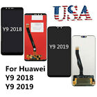 Black For Huawei Y9 2019 / Y9 2018 LCD Display Touch Screen Digitizer Assembly