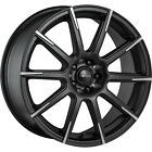 4 - 18x8 Black Wheel Focal F-52 452 5x4.5 5x100 40