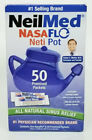 NeilMed NasaFlo Neti Pot with 50 Premixed Packets