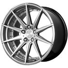 Staggered Verde V20 Insignia Front 22x9 Rear 22x105 5x120 Silver Wheels Rims