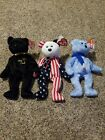 Ty Beanie Babies- Rare lot 1999. The END, Spangle and Holiday Teddy.