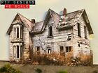HO Scale Scratch Built HAUNTED ABANDONED HOUSE 2  Building FLAT Walthers