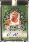 2019 LEAF NSCC EXCLUSIVE AUTO GREEN: DENNIS RODMAN #1 1 AUTOGRAPH HALL OF FAME