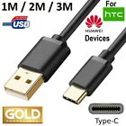 USB C CABLE for HTC or HUAWEI MOBILE CELL PHONE A FAST CHARGER CORD 3FT 6FT 10FT