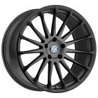 4 Beyern Aviatic 17x8 5x120 +35mm Gunmetal Black Wheels Rims