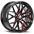4 Shift Spring 18x8 5x112 +35mm Black Milled Red Wheels Rims 18 Inch