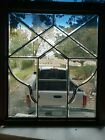 ANTIQUE FULL BEVELED GLASS WINDOW ARCHITECTURAL SALVAGE