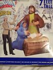RARE Gemmy 7 Nativity Scene Mary  Joseph Lighted Christmas Airblown Inflatable