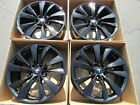 19 tesla model s gloss black wheels rims original parts oem cyclone 4