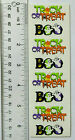Mrs Grossman TRICK OR TREAT Strip of Halloween Stickers See Ruler For Size