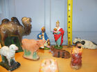 Antique Nativity Set Mixed Random Germany Italy Christmas Baby Jesus Wiseman ETC