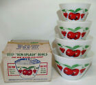 Cherry Mixing Bowl Set In Box * RARE * MINT * NOS * Red Green