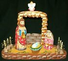 WOW HAND CARVED  HAND PAINTED RUSSIAN NATIVITY SET 0457