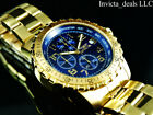 NEW Invicta 45mm Men's Specialty Chronograph Blue Dial 18K Gold Plated SS Watch