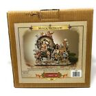 Grandeur Noel Water Snow Globe Christmas Nativity Animated Musical 2000 with Box