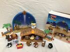 Fisher Price Little People Nativity Set Lights Music Manger 2003 Complete w box
