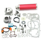100cc Big Bore Set Power Pack Exhaust For 4 Stroke Gy6 50cc QMB139 Scooter US