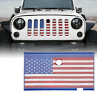 Xprite Mesh Grille Insert USA FlagHood Lock Hole for 2007 2018 Jeep Wrangler JK