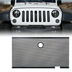 Xprite Black Steel Grille Insert Hood Lock Hole for 07 18 Jeep Wrangler JK JKU