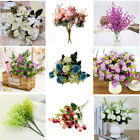 Artificial Flowers Silk Rose Flower Bunch Fake Grass Daisy Lily Tulip Plant Deco