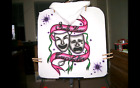 DRAMA MASKS Airbrushed T shirt or Hood Custom Made Personalized Any Size to 6X