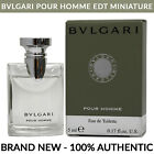 Bvlgari Pour Homme Men's Cologne EDT 0.17oz 5ml Miniature Splash Bottle NEW