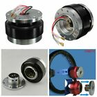 Universal Car Black Steering Wheel Quick Release Hub Adapter Snap Off Boss Kit