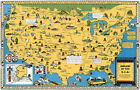 Indians USA Native American Tribes 1944 Pictorial Map Poster
