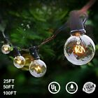 25 50 100FT LED Outdoor Waterproof Commercial Grade Patio Globe String Lights