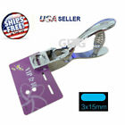 ID Card Badge Photo Hole Punch Metal Hand Held Slot Puncher Tag Tool for PVC New