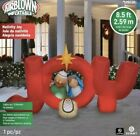 Gemmy Airblow Inflatable 85ft Christmas Joy Nativity Scene