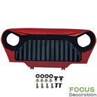 For Jeep Wrangler TJ 1997 2006 Front Red Gloss Black Angry Bird Grille Grill