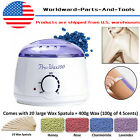 Hot Wax Warmer Hair Removal Waxing Kit Electric + 400g Hard Wax beans