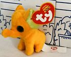 New McDONALDS TY TEENIE BEANIE BOOS Elephant #2 Peanut Orange Plush Doll 2014 NW