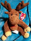 TY BEANIES: VILLAGER THE CANADIAN MOOSE w/Metal key clip - MWMTS RARE 2006