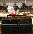 Magnavox D8300 Duel Deck AM/FM Cassette Play/Record Boombox W/Tapes