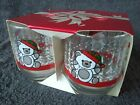 Vintage New Old Stock Libby Christmas Bear Drinking Glasses