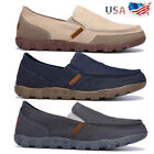 Mens Casual Canvas Driving Loafers Shoes Breathable Moccasins Slip on Sneakers