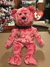 "Ty HEARTLEY -Pink Valentine's 6"" Beanie Baby Bear *Retired Exclusive* RARE"